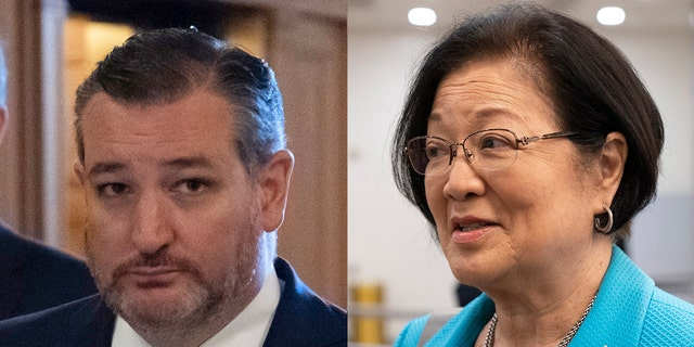 """Senator Mazie Hirono accused Senator Ted Cruz of """"mansplaining"""" on Wednesday after claiming she didn't believe in legal originalism because of it """"Would prevent results that supported it."""" (Associated Press)"""