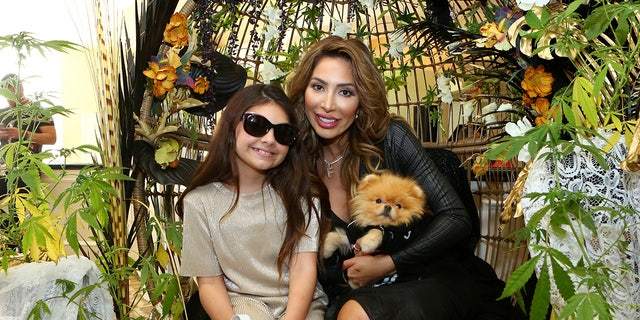 Farrah Abraham (R) and daughter Sophia Laurent Abraham attend Debbie Durkin's EcoLuxe Lounge Honoring Film Award Nominees 2020 at The Beverly Hilton Hotel on February 07, 2020 a Beverly Hills, California.