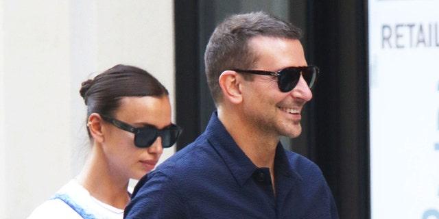 Irina Shayk and Bradley Cooper are seen on June 17, 2021, in New York City.
