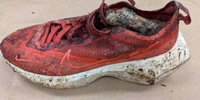 Hikers found the woman's shoe with skeletal remains inside on Saturday. (FBI)