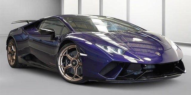 The owner of this 2019 Lamborghini Huracan Performante was cited for dozens of moving violations.