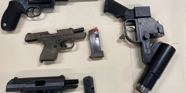 Police said they recovered these weapons from Lochan's residence. (NYPD)