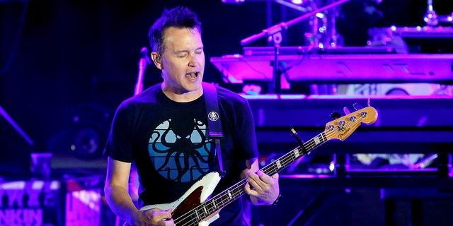 Mark Hoppus of Blink-182. The 49-year-old rocker shared details about his cancer diagnosis during a Twitch live stream with fans.