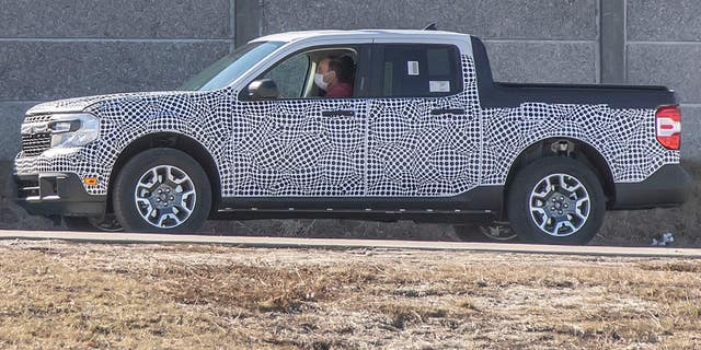 A disguised Maverick pickup has been spotted undergoing tests.