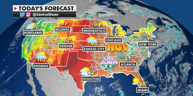 The national forecast for Wednesday, June 9. (Fox News)