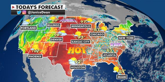 The national forecast for Thursday, June 10. (Fox News)
