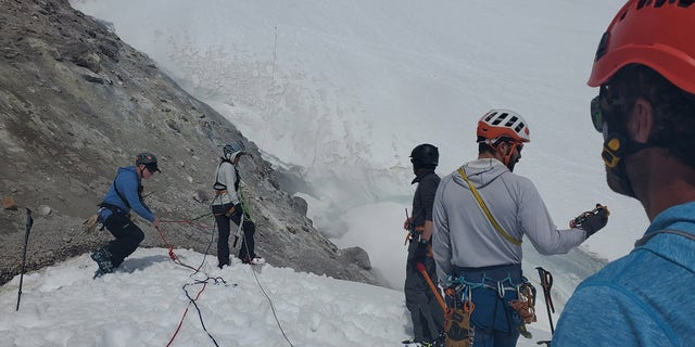 The man was at an elevation of approximately 10,500 feet when he fell, officials said.