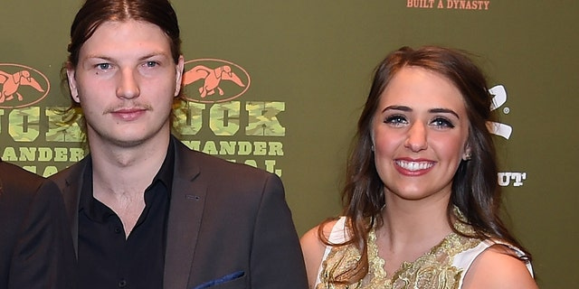 Reed Robertson and Brighton are expecting their first child in November.