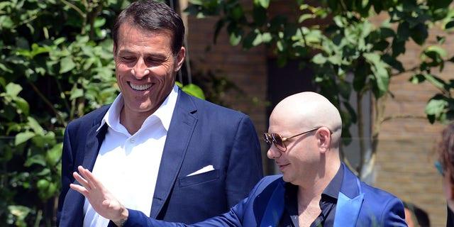 Pitbull and Tony Robbins collaborating ... on NASCAR team.jpg
