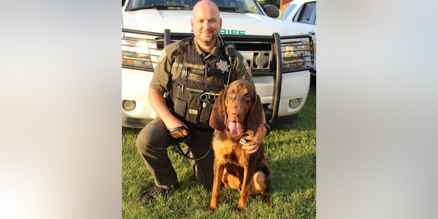 K-9 Fred and his handler Deputy Richard Tidwell helped locate the missing 6-year-old girl. Tidwell said Fred was rewarded with chicken and pizza crusts for the successful find.