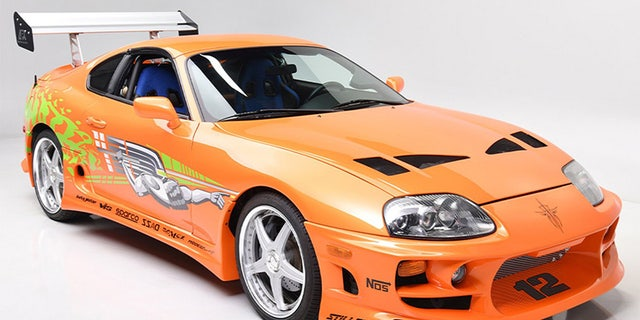 """The 1994 Toyota Supra from """"The Fast and the Furious"""" was built by The Shark House in El Segundo, Calif."""