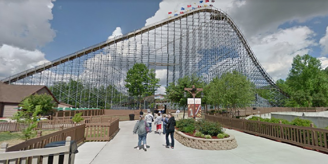 The Voyage roller coaster at Holiday World Theme Park in Santa Claus, Ind. Jankovic was found unconscious after going on the ride, レポートによると. (Google Maps)