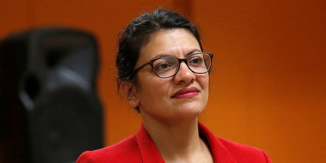 U.S. Congresswoman Rashida Tlaib listens to a question from a constituent during a Town Hall style meeting in Inkster, Michigan, U.S. August 15, 2019. REUTERS/Rebecca Cook