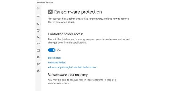برای مصرف کنندگان و کاربران مشاغل کوچک به طور گسترده ای شناخته شده نیست که مایکروسافت از سیستم محافظت داخلی در برابر باج افزار محافظت می کند.