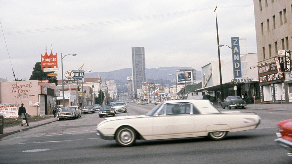 Amazing dash cam footage captures close call accident on Hollywood's Sunset Strip … in 1963!