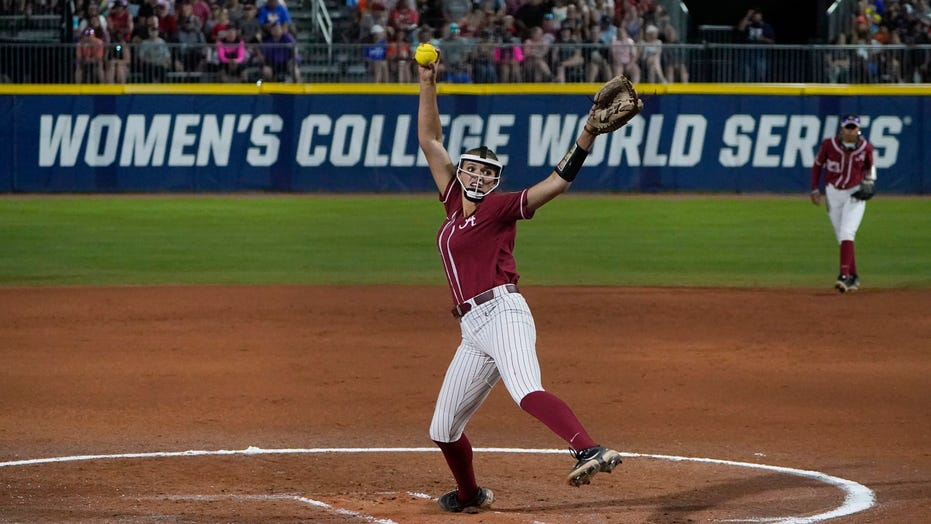 Montana Fouts throws perfect game, leads Alabama past UCLA in WCWS