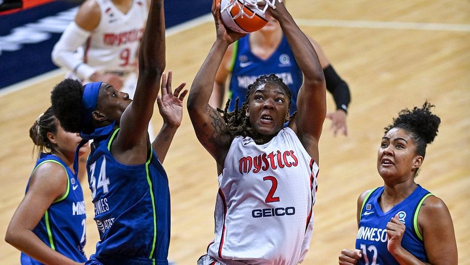 Charles scores 31, Mystics hold off Lynx 85-81
