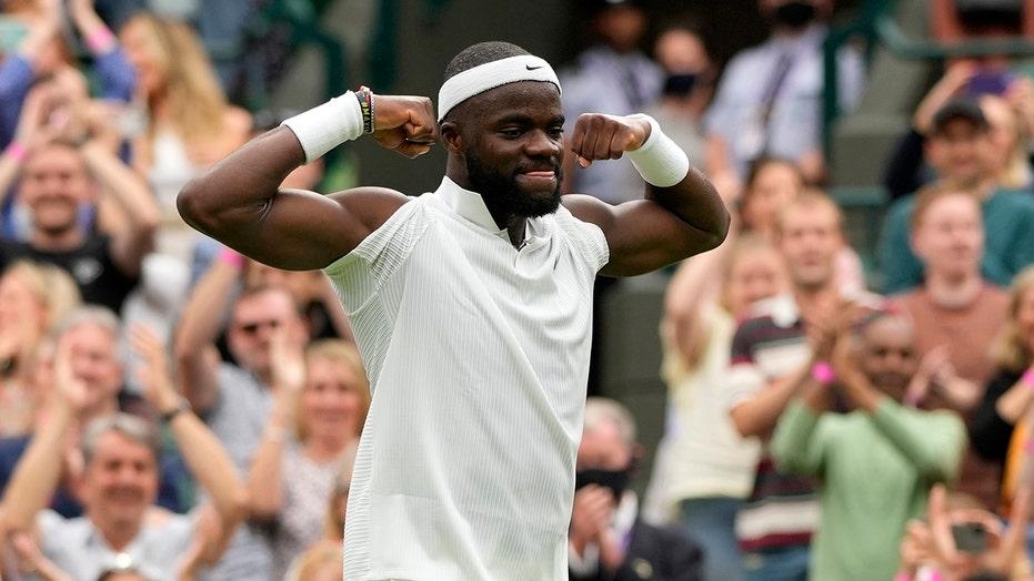 American-born Frances Tiafoe stuns Stefanos Tsitsipas on Day 1 at Wimbledon