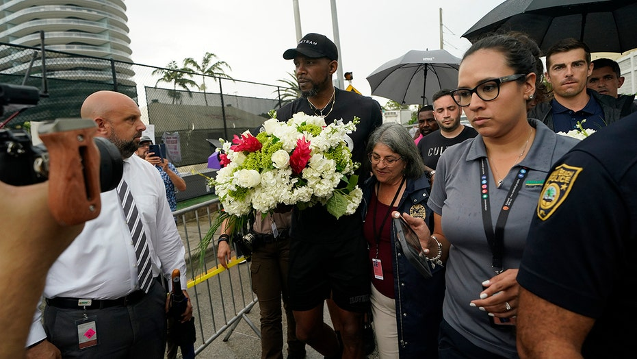 'Continue to pray': In Surfside, NBA's Haslem offers support