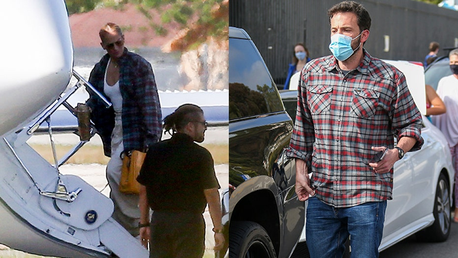 Jennifer Lopez wears what appears to be Ben Affleck's shirt during outing