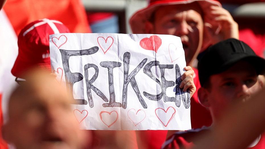 Denmark, Belgium applaud Christian Eriksen during Euro 2020 match