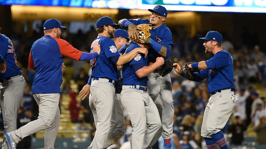 Cubs toss combined no-hitter, tie major-league record