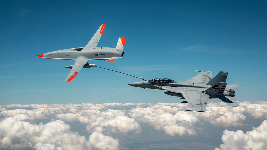 Boeing drone refuels Navy fighter jet for the first time