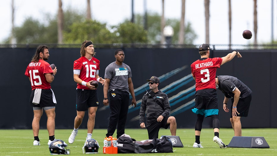 Trevor Lawrence no lock as Jaguars' starting quarterback yet, coach says