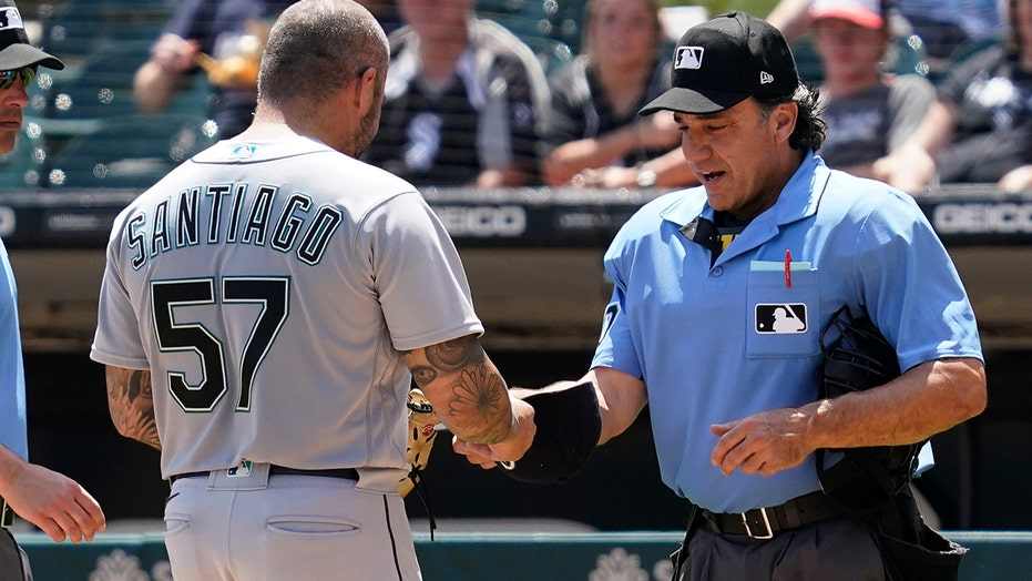 Mariners' Hector Santiago is first to be ejected for allegedly using grip-enhancing substances