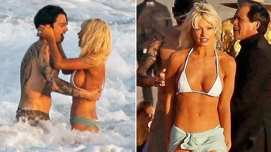 Lily James, Sebastian Stan recreate Pamela Anderson and Tommy Lee's beach wedding