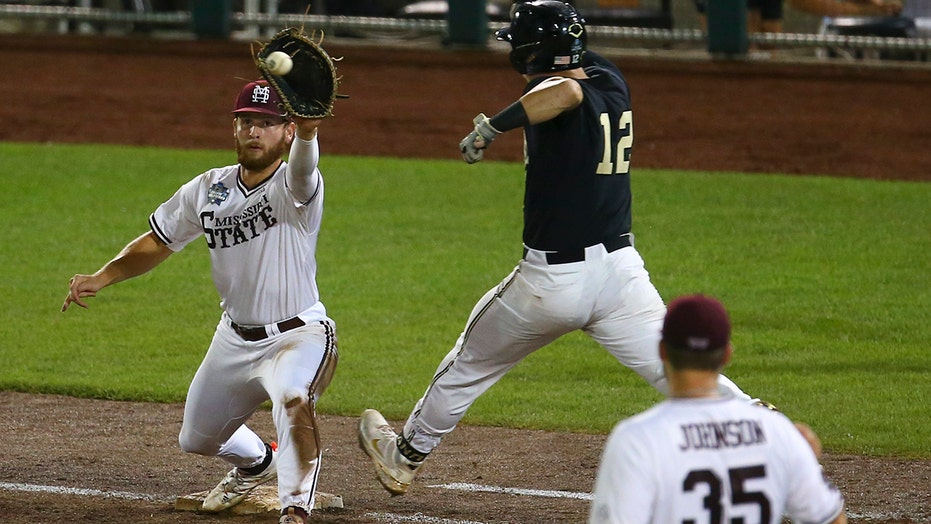 Mississippi St beats Vandy 13-2 to send CWS finals to Game 3