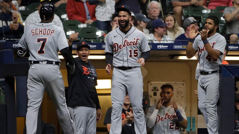 Haase, Schoop each homer twice as Tigers beat Brewers 10-7