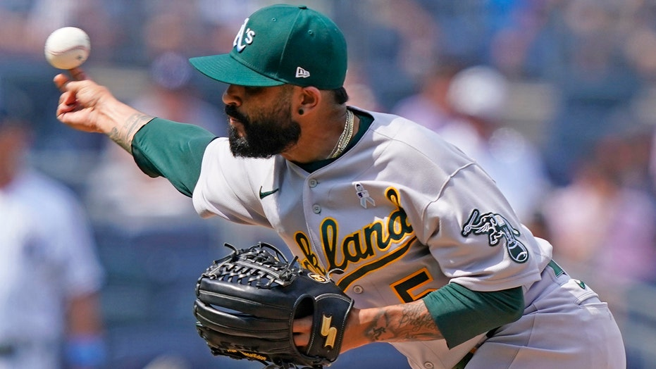 A's Sergio Romo drops his pants, throws gear during umpire's substance inspection