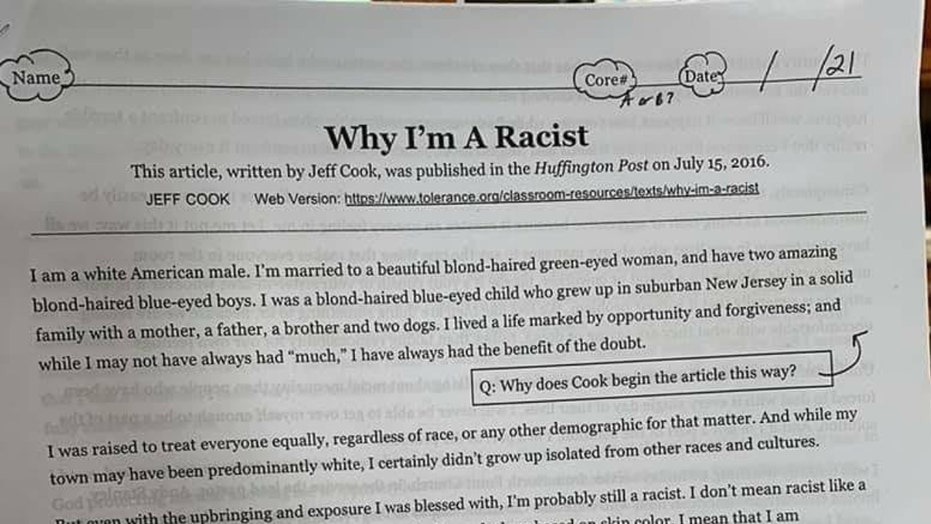 California middle schoolers get 'uncomfortable' assignment of Huffington Post op-ed, 'Why I'm a Racist'