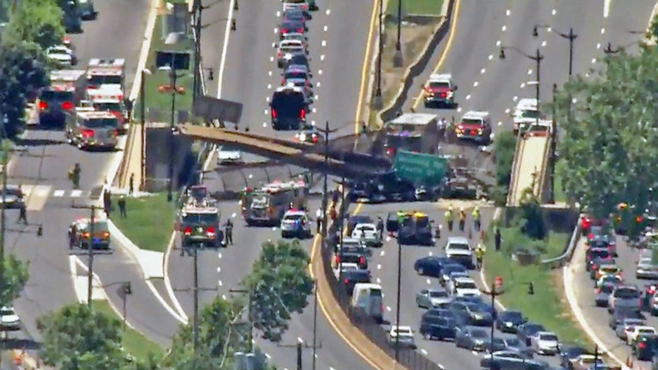 Dramatic video shows the moment a DC pedestrian bridge collapsed