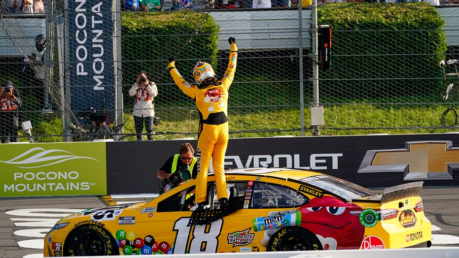 NASCAR: Kyle Busch wins Pocono Cup Series race with busted clutch
