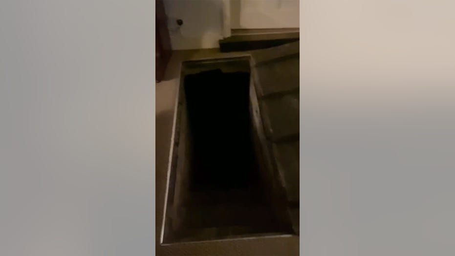 Creepy hidden cellar full of green liquid discovered in vacation home