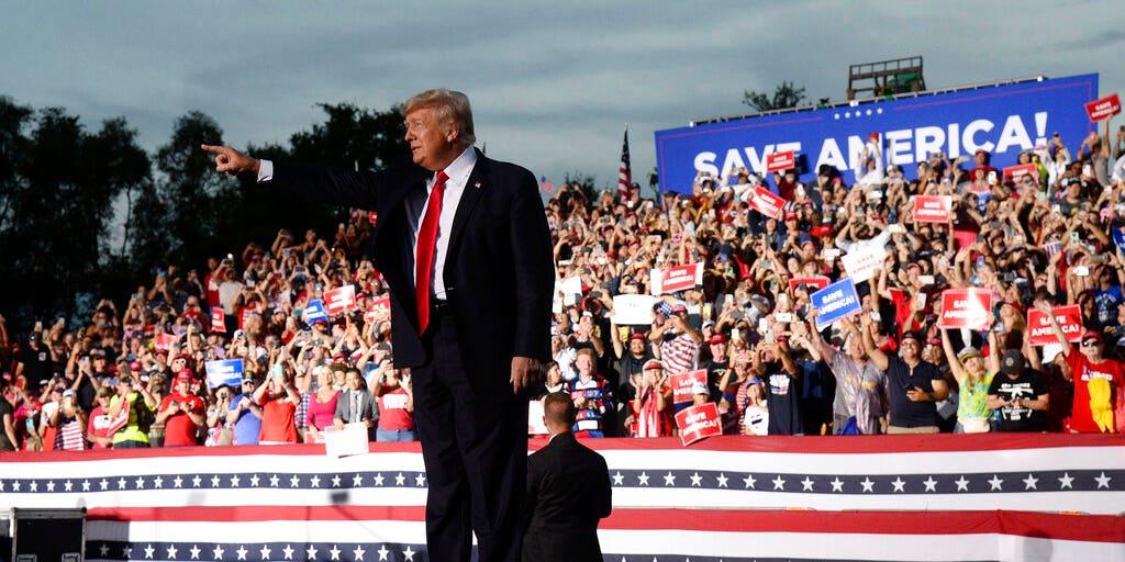 Trump makes no mention of DeSantis at Florida rally