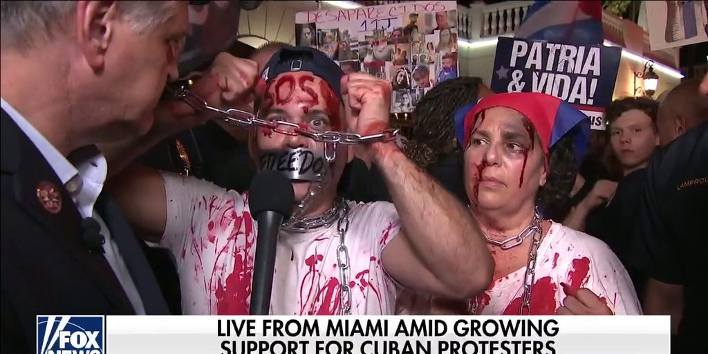 'Bloodied' Little Havana demonstrator slams Biden: 'Cubans don't want vaccines, they want freedom'