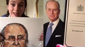 Woman says she received thank you note from Queen Elizabeth for painting of Prince Philip