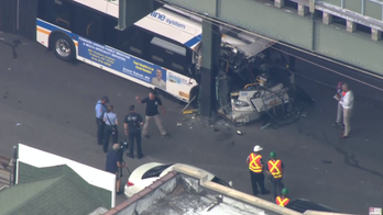 NYC bus crash: Video shows head-on collision with car, at least a dozen injured
