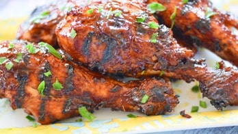 Barbecue chicken drumsticks smothered in chipotle-beer barbecue sauce: Try the recipe