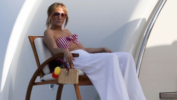 Jennifer Lopez relaxes in striped bikini on $130M super yacht in Italy