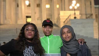 Cori Bush spends night protesting outside US Capitol, gets support from Squad allies Omar, Pressley