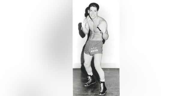 A young Danny Trejo as a boxer.