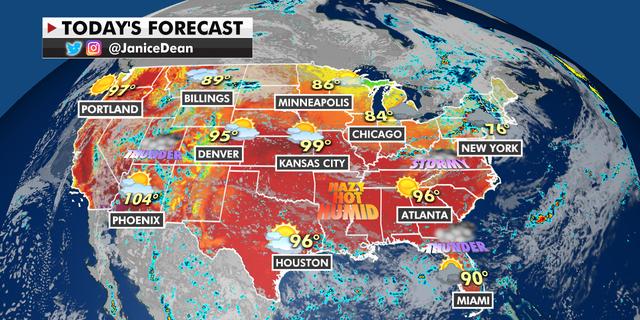 The national forecast for Thursday, July 29. (Fox News)