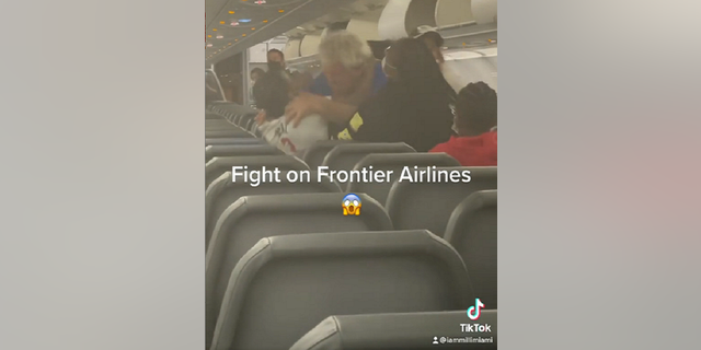 The fight occurred after the Frontier Airlines plane landed in Miami. (Courtesy Milli Miami/https://www.instagram.com/milli_miami/)