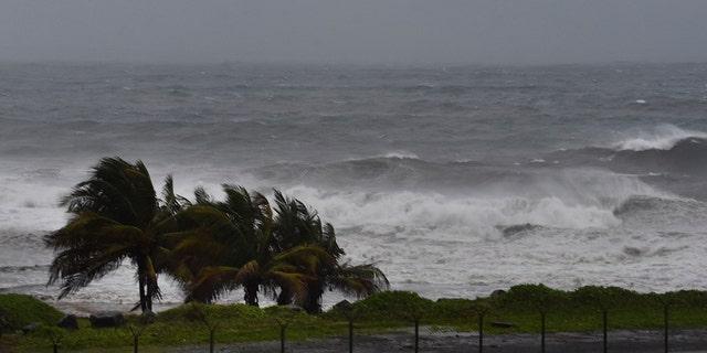 Hurricane Elsa approaches Argyle, St. Vincent, Friday, July 2, 2021. (Associated Press)