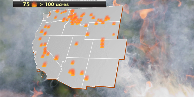 Current wildfires ongoing in the U.S. (Fox News)