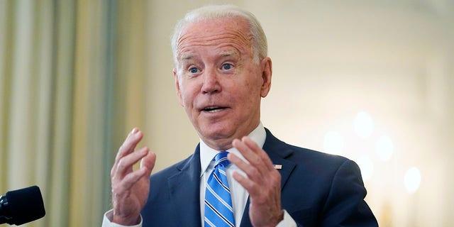 President Joe Biden speaks at the White House, in Washington, July 19, 2021. (Associated Press)